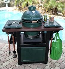 Green Egg Kitchen - big green egg table cabinet outdoor kitchen cart weatherproof