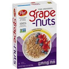 Breakfast Food Cereal Walmart Com by Post Grape Nuts The Original Non Gmo Cereal 29 Oz Box Walmart Com