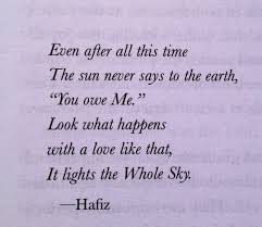 Love Is Unconditional Quote by A Quote To Remember U2013 Hafiz A Grain Of All