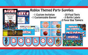 themed party supplies roblox themed party supplies