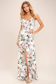 maxi dress lovely ivory dress floral print dress maxi dress 78 00