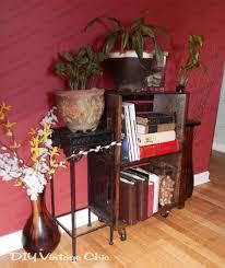 diy vintage chic vintage wine crate side table
