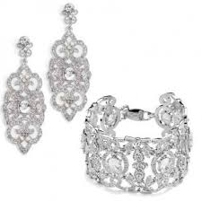 bridal earrings bracelet sets images Bridal jewelry sets anna bellagio jpg