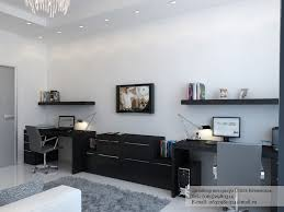 contempory home general black desk white home office cluster of creative home