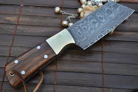 custom made kitchen knives custom handmademade damascus chef knife walnut handle perkin