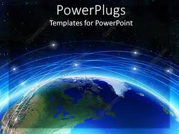 templates powerpoint earth powerpoint template earth with blue line and background of black