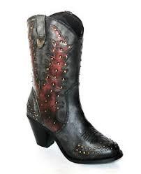 womens cowboy boots ebay uk dingo s uk 4 black overlay studded brand 9 leather