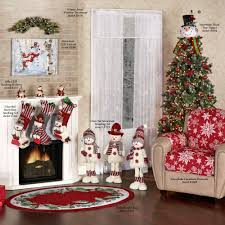 Christmas Rug Cheerful Snowmen Christmas Stocking Set