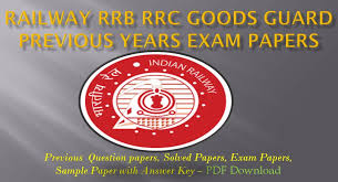 exam pattern of goods guard railway rrb rrc goods guard previous year question papers in english