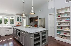 white and gray kitchen ideas white kitchen grey island interior design