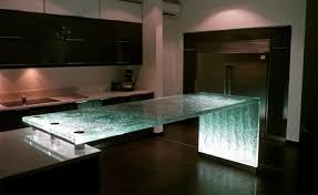 meuble de cuisine en verre salle à manger meuble cuisine verre lumiere moderne l îlot se