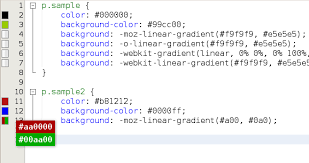 color codes preview netbeans plugin detail
