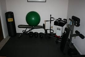 Small Home Gym Ideas Simple Small Home Gym With Interlocking Rubber Flooring Flooring