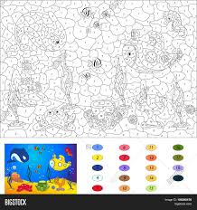 color by number educational game vector u0026 photo bigstock