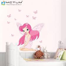 stickers fille chambre 2017 nouveau ange fille chambre fleur fée et papillon sticker
