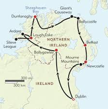 Dublin Ireland Map A Northern Arc Across Ireland Itinerary U0026 Map Wilderness Travel