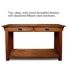Mission Furniture Desk Amazon Com Leick Furniture Mission Sofa Table Medium Oak