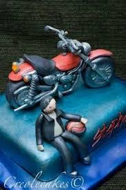motorbike cake topper edible fondant icing by nicolepeglercakeart