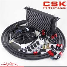 oil cooler fan kit 25 row an8 engine oil cooler filter relocation hose 7 electric