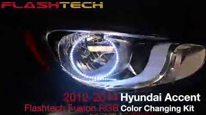 led halo headlight accent lights hyundai accent v 3 fusion color change led halo headlight kit 2012