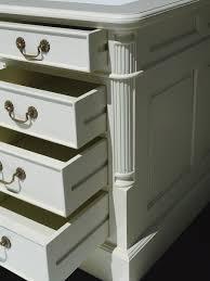 Schreibtischplatte Mit Schubladen Schreibtisch Partnerdesk Büromöbel Cremeweiß Echtleder Bezug Weiß