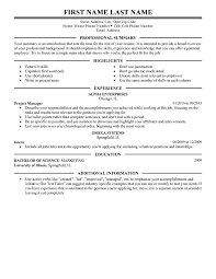 Resume Sentences Examples by Management Resume Templates To Impress Any Employer Livecareer