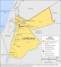 Jordan World Map by Smartraveller Gov Au Jordan