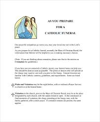 Program For Funeral Service Sample Catholic Funeral Program 12 Documents In Pdf Psd Word