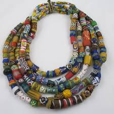 handmade beaded necklace images Handmade multi strand african trade bead necklace big bold jpg