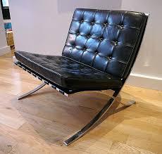 barcelona canapé fauteuil barcelona canape mies der rohe noir ludwig