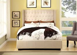 furniture of america mira tufted wingback platform bed