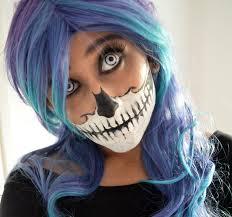 mishmreow skull mask halloween makeup