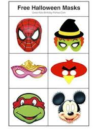 free printable halloween masks kids photoprops diy