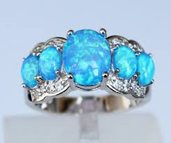 blue rings white images White blue fire opal ring atperrys jpg