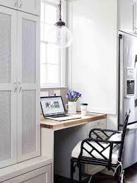 Creative Desk Ideas Small And Vintage Home Office Design With All White Interior Color