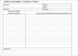 cornell notes template 51 free word pdf format download free