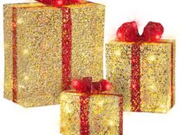 14 lighted gift boxes 3 glistening prismatic gift