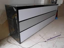 Kitchen Set Minimalis Hitam Putih Furniture Interior Warna Hitam Putih Lemari Bufet Pakaian