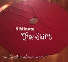 diy a 5 minute 5 tree skirt southern savers