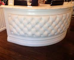 tufted salon reception desk white tufted reception desk home design ideas
