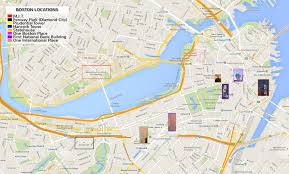 Map Of Boston Area Abbreviated Map Of Downtown Boston Fallout