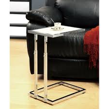 adjustable height end table chrome metal adjustable height accent table free shipping today