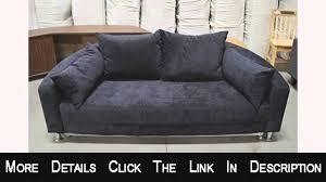 Microfiber Sleeper Sofa by Modern Round Sleeper Bed Sofa Black Microfiber B098bk Youtube