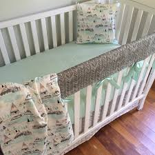 crib bedding baby bedding crib rail cover woodland nursery