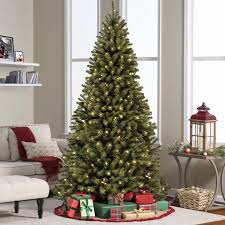 7 5ft pre lit spruce hinged artificial christmas tree w ul 588
