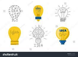 cartoon lamp light bulb design flat stock vector 631734707