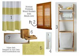 yellow bathroom accessories decorating clear