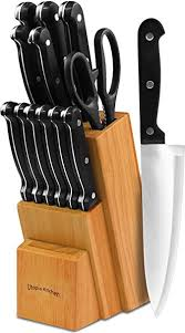 Cheap Kitchen Knives Knife Set With Wooden Block 13 Chef Knife