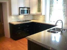 Two Tone Cabinet Pulls Cambria Quartz Berwyn Two Tone Kitchen Gray And White Countertop2