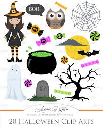 cute halloween clipart scrapbooking printables holiday set